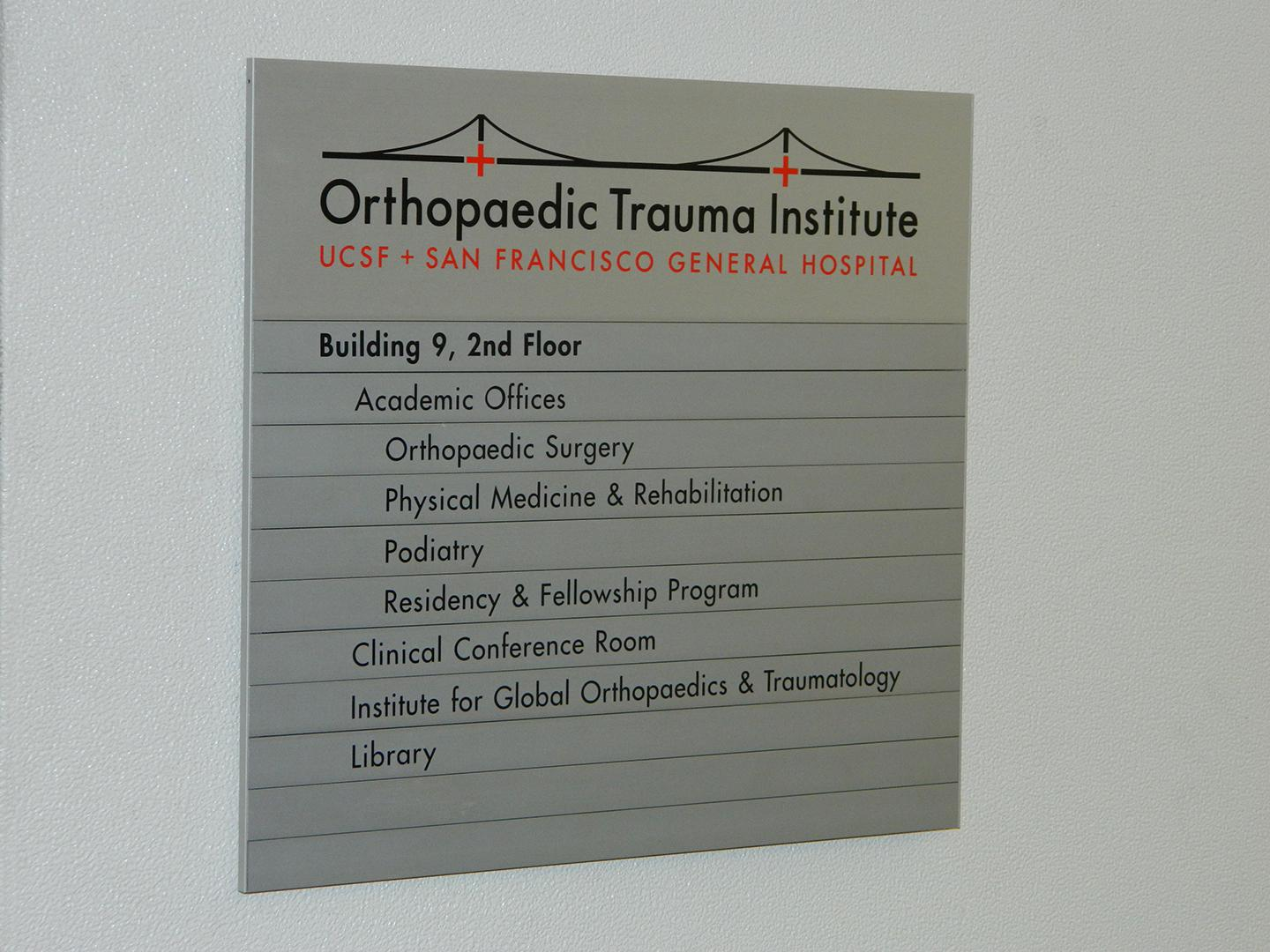 Orthopaedic Trauma Institute Priority Architectural Graphics